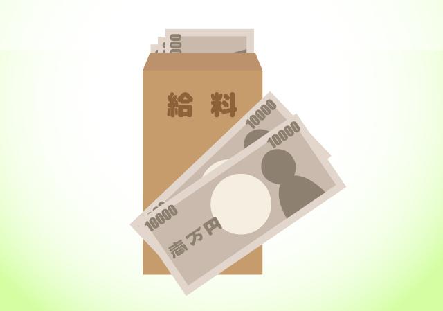 給料袋と一万円札