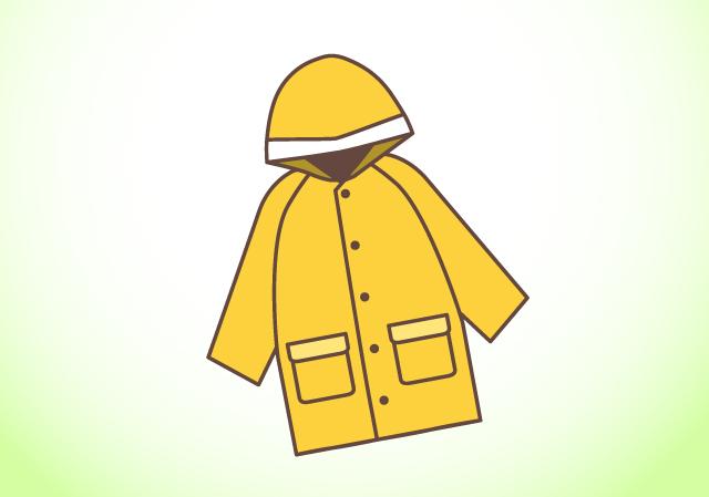 雨天時はポンチョやレインブーツで完全防備